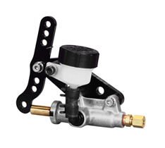 Single outlet master cylinder With reservoir